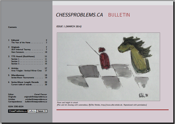 ChessProblems.ca Bulletin - Issue 1, March 2014