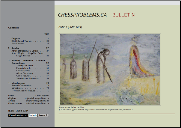 ChessProblems.ca Bulletin - Issue 2, June 2014
