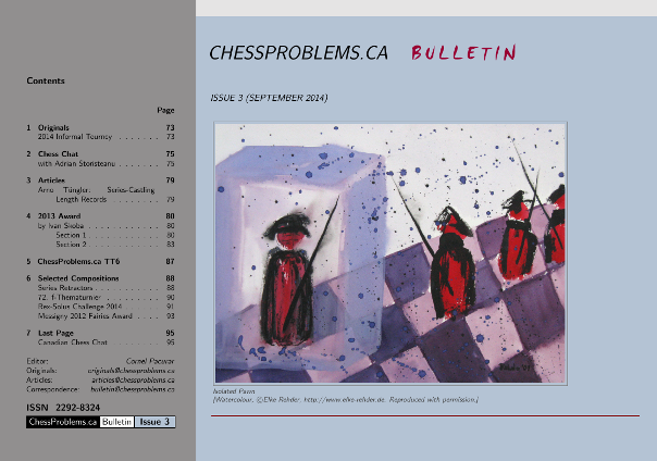 ChessProblems.ca Bulletin - Issue 3, September 2014