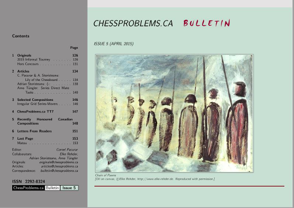 ChessProblems.ca Bulletin - Issue 5, April 2015