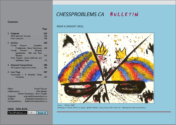 ChessProblems.ca Bulletin - Issue 6, August 2015