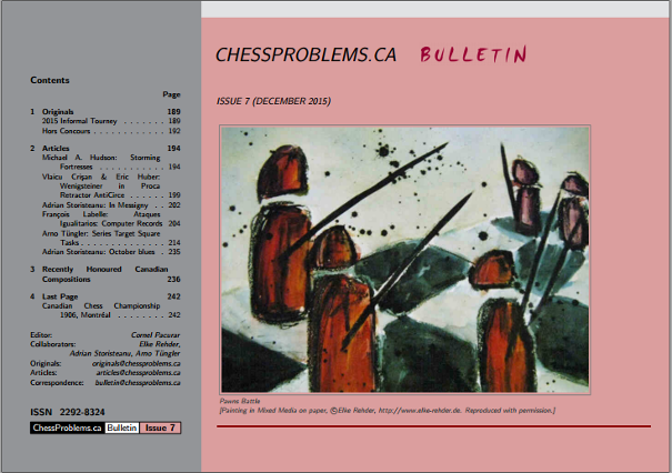 ChessProblems.ca Bulletin - Issue 7, December 2015