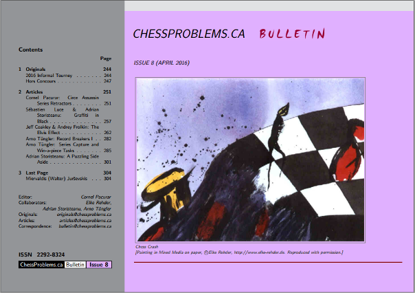 ChessProblems.ca Bulletin - Issue 8, April 2016
