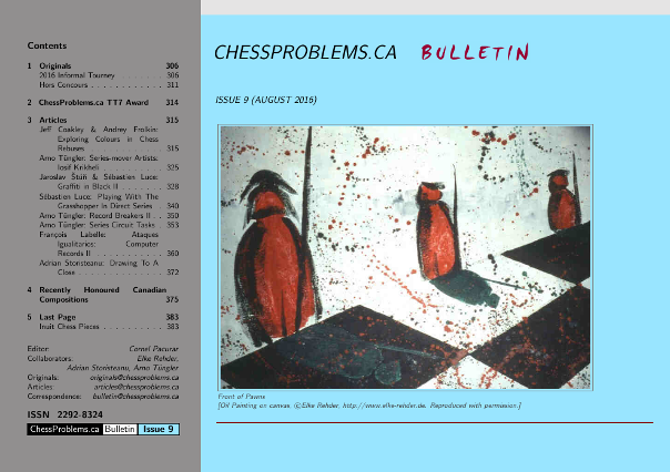 ChessProblems.ca Bulletin - Issue 9, August 2016