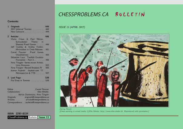 ChessProblems.ca Bulletin - Issue 11, April 2017