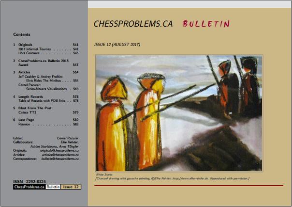 ChessProblems.ca Bulletin - Issue 12, August 2017