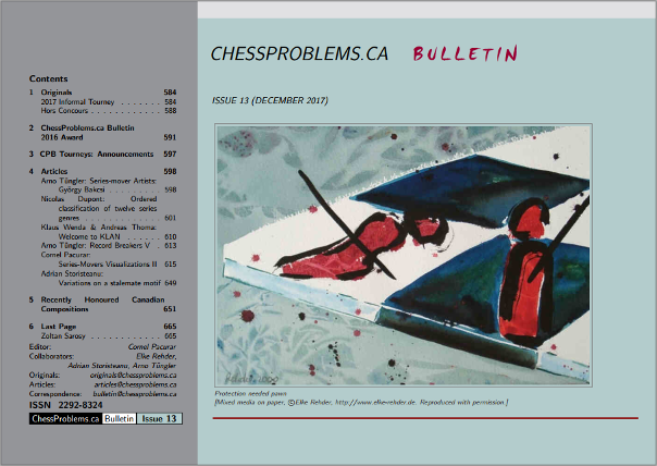 ChessProblems.ca Bulletin - Issue 13, December 2017