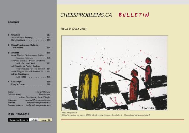 ChessProblems ca Bulletin - ISSN 2292-8324